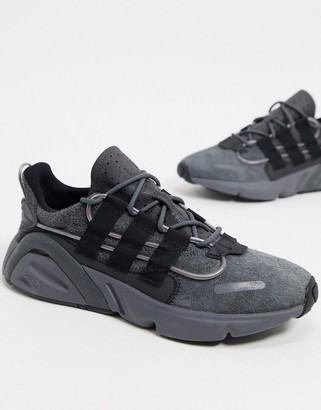 adidas LXCON trainers in charcoal grey suede
