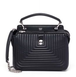 Fendi Dotcom Click Quilted Leather Chain Satchel