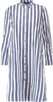 MiH Jeans Tove striped cotton-poplin mini shirt dress