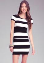 Bebe Stripe Sweater Dress