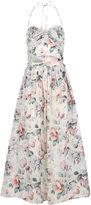 Zimmermann Mint Floral Cotton Jasper Tie Dress
