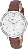 Fossil Women's ES3708 Jacqueline Three Hand Leather Watch - Brown
