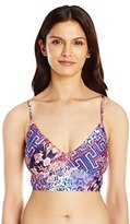 Kenneth Cole Reaction Women's Hit The Surf Triangle Midkini Bikini Top