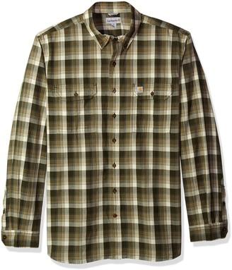 Carhartt Men's Big and Tall Big & Tall Fort Plaid Long Sleeve Shirt