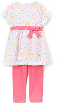 Bon Bebe Colorful Polka Dot Print Dress & Leggings