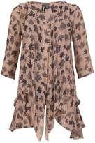 Izabel London **Izabel london Brown 3/4 Sleeve Tunic Dress