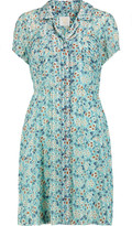 Anna Sui Daisy printed satin and washed-silk mini dress