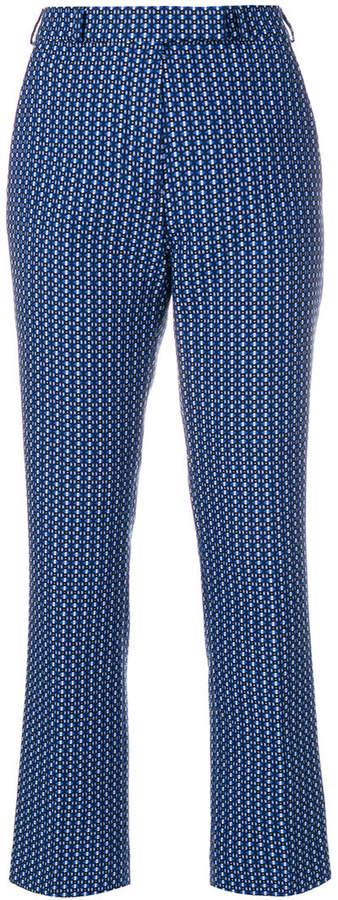 Etro geometric pattern trousers