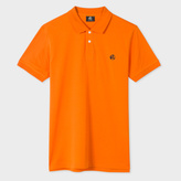 Paul Smith Men's Slim-Fit Orange Mercerised-Cotton PS Logo Polo Shirt