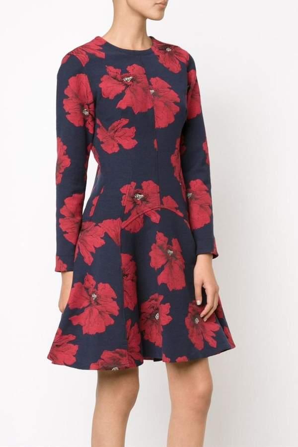 Lela Rose Long Sleeve Dress