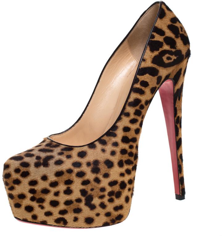 Leopard Print Platform Pumps   Shop the