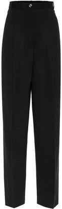 Acne Studios High-rise stretch wool pants