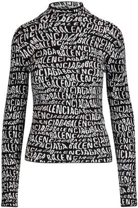 Balenciaga Long sleeved t-shirt with turtle neck