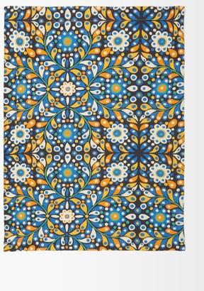 La DoubleJ Set Of 2 Confetti Linen Placemats - Green Print