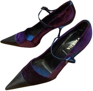 Prada Mary Jane Purple Velvet Heels