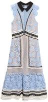 Self-Portrait Floral guipure-lace panelled midi dress