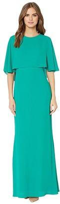 BCBGMAXAZRIA Cape Gown (Ultra Green) Women's Dress