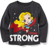 "Old Navy DC Comics Supergirl "" Supergirl Strong"" Tee for Toddler Girls"