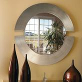 Howard Elliott 38 in. x 38 in. Round Orbit Silver Leaf Mirror