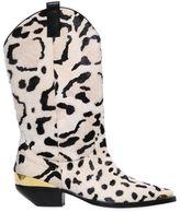 Fausto Puglisi 30mm Leopard Print Ponyskin Cowboy Boots