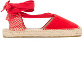Soludos Red Suede Espadrilles - women - Suede/Straw/Canvas/rubber - 9