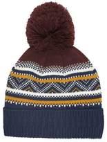 Burton Burton Multi Coloured Fair Isle Knit Bobble Hat