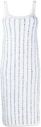 Thom Browne Vertical-Stripe Midi Dress