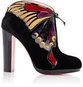 Christian Louboutin Women's Mariposa Velvet Ankle Booties