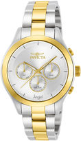 Invicta Womens Two Tone Silver Dial Stainless Steel Angel Bracelet Watch 13725