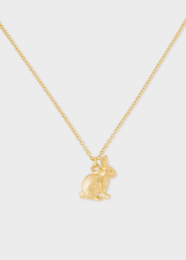 Paul Smith Alex Monroe + 18ct Gold Small 'Bunny' Chain Necklace