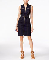 INC International Concepts Petite Belted Denim Shirtdress, Only at Macy's