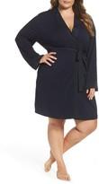 Midnight by Carole Hochman Plus Size Women's Short Robe