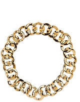 Nadri Hammered Chain Link Collar Necklace