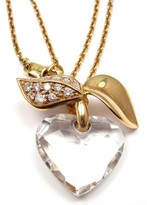 Christian Dior 18K Yellow Gold Diamond Pendant Necklace