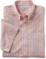 L.L. Bean Wrinkle-Free Vacationland Shirt, Traditional Short-Sleeve Plaid