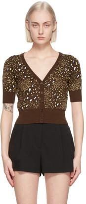 Versace Brown Leopard Cardigan