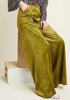 ModCloth Guiding Glow Wide-Leg Velvet Pants in XL - Wide Pant