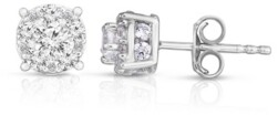 TruMiracle Diamond (1 ct. t.w.) Halo Stud Earrings in 14K White Gold