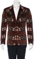 Dolce & Gabbana Floral Needlepoint Velvet Blazer