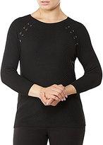 Allison Daley Wide Crew Neck 3/4 Raglan Sleeve Pullover