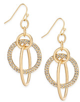 INC International Concepts Gold-Tone Pavé Multi-Ring Drop Earrings, Created for Macy's
