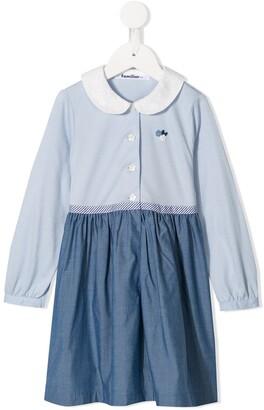 Familiar Two-Tone Button Dress