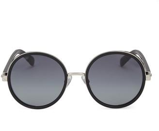 Jimmy Choo Andie 54MM Round Crystal-Detail Sunglasses