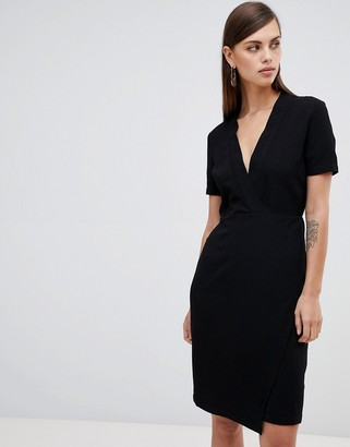 UNIQUE21 Unique 21 short sleeve wrap dress