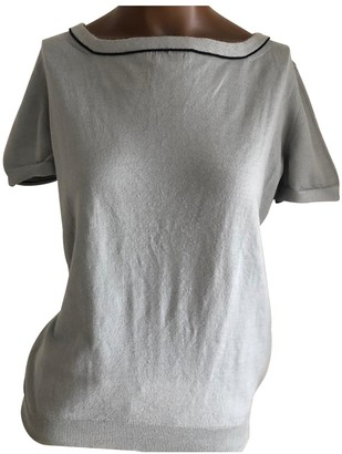 Saint Laurent Grey Wool Top for Women Vintage