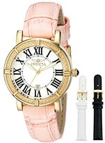 Invicta Women's 13968 Wildflower Gold-Tone Stainless Steel Watch with Two Additional Straps