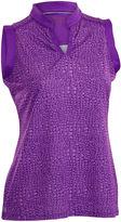Asstd National Brand Sing Sleeveless Sleeveless Animal Knit Polo Shirt