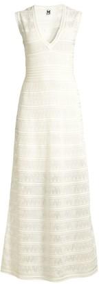 M Missoni Sleeveless Zig-Zag Knit Maxi Dress