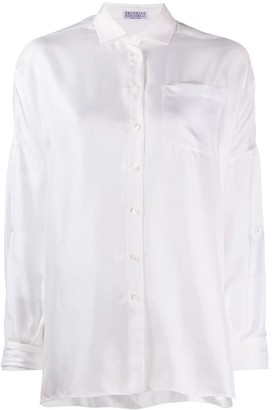 Brunello Cucinelli Longline Spread Collar Shirt