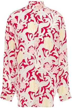 Vanessa Bruno Carmin Floral-print Silk-satin Crepe Shirt